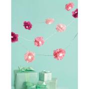 Martha Stewart Celebrate Decor 8 foot Lighted Garland - Pink