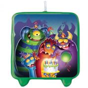 Creative Converting 208837 Monster Mania Moulded Candle