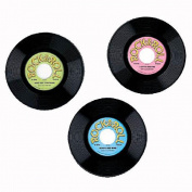 9 Inch Plastic Records Decorations - Package of 12
