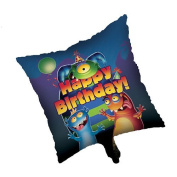 Monster Mania Party Theme 46cm Square Foil Balloon