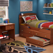South Shore Imagine Twin Captain Bed - Cherry