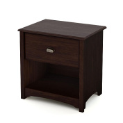 South Shore Willow Collection Night Stand - Moka
