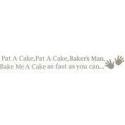 WallPops 2 Sheet Pat a Cake Nursery Rhyme Decal Kit - Pewter