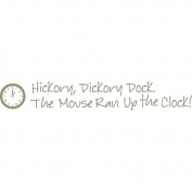 WallPops 2 Sheet Hickory Dickory Nursery Rhyme Decal Kit - Pewter