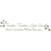 WallPops 2 Sheet Twinke Twinkle Nursery Rhyme Decal Kit - Pewter