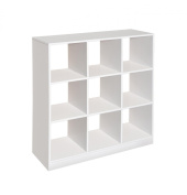 Badger Basket - 9 Cubby Storage Unit, White