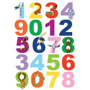 Spirit Numbers Wall Decals with Animals - Multi