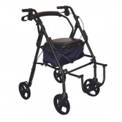 Drive Medical Duet Transport Chair/Rollator, Black