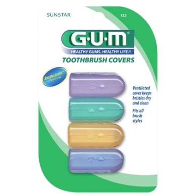 GUM Toothbrush Covers, Protect AB TB Covers, 4 covers