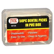 JMK 06728 50 Piece Dental Picks in PVC Box