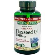 Natures Bounty Organic Flaxseed Oil 1200 mg, 100 softgels