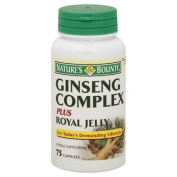 Natures Bounty Ginseng Complex Plus Royal Jelly, 75 capsules