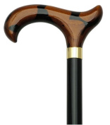 Men Derby Cane Black Maple Shaft Spotted Morocco Handle