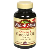 Nature Made Omega-3 Flaxseed Oil 1000 mg, 100 softgels