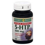 Natures Bounty 5-HTP 100 mg, Double Strength, 60 capsules