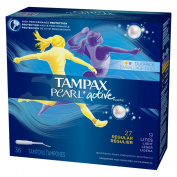 Tampax Pearl with Leak Guard Lite Flow Multipax Tampons, Unscented 36 ea