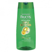 Garnier Fructis Haircare Triple Nutrition Fortifying Shampoo, For Dry to Over-Dried or Damaged Hair
