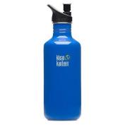 Klean Kanteen Blue Ocean 1180ml Water Bottle w/ Sport Cap 2.0