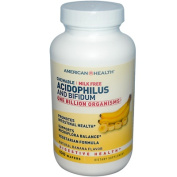 Frontier Natural Products Co-op 23531 American Health Probiotics Chewable Acidophilus with Bifidus Banana 100 wafers