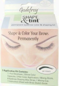 Godefroy Shape Tint Permanent Eyebrow Colour Shaping Kit Jet Black
