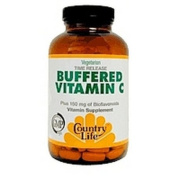 Country Life Buffered Vitamin C with Bioflavonoids, 100 Tabs, 1000 Mg