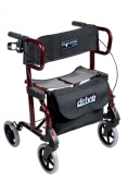 Diamond Deluxe Aluminium Rollator/Transport Chair