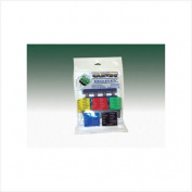 CanDo® Digi-Flex® hand exerciser - set of 5 (yellow, red, green, blue, black), no rack