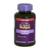 Natrol My Favourite Multiple Multi-Vitamin without Iron, 180 Capsules