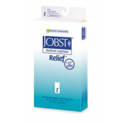 Jobst 114646 Relief 20-30 mmHg Open Toe Garter Style Thigh Highs - No Grip Top - Size- Beige Large