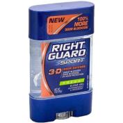 Sport 3-D Odor Defense Antiperspirant & Deodorant Clear Gel Fresh by Right Guard for Unisex - 3 oz Deodorant Stick