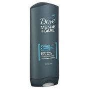 Dove M-BB-1445 Clean Comfort Body and Face Wash by Dove for Men - 13.5 oz Body Wash