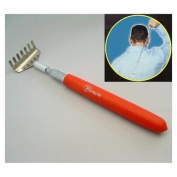 Telescoping Pocket Back Scratcher with RED Grip