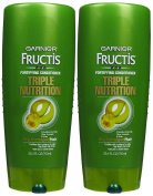 Garnier Fructis Haircare Triple Nutrition Fortifying Cream Conditioner, Dry to Over-Dried or Damaged