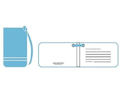 Moleskine Luggage Tag, Cerulean Blue (3.75 X 2.25)