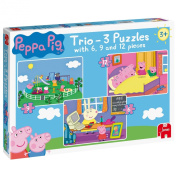 Peppa Pig Trio - 3 Jigsaw Puzzles in a Box
