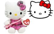 Hello Kitty Tartan Plaid TY Beanie, plush toys