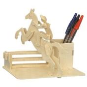 Horse-Riding Pen-Holder - Woodcraft Construction Kit