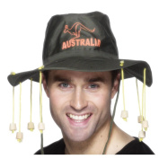 Australian Hat with hanging imitation corks for Fancy Dress
