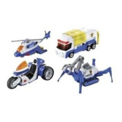 Tomy Tomica 85103 Hyper City Rescue Police Vehicles