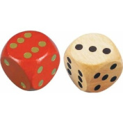 Family Games : Extra large dice for board games ( 1 per purchase ) [Toy]