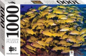 1000 Piece Jigsaw Puzzle Blue Striped Snappers