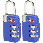 TSA 3-dial Combo Lock/2 pack