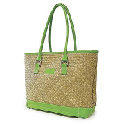 St Tropez Tote (Natural/Green)