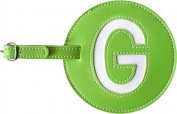 Leather Initial 'G' Luggage Tag Set of 2