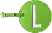 Leather Initial 'L' Luggage Tag Set of 2