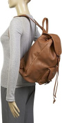 Leather Backpack w/One Pocket