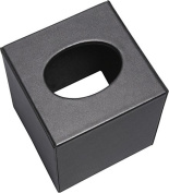 Leather Tissue Holder (Black)