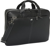 "Deluxe Leather 15.4"" Laptop Briefcase"