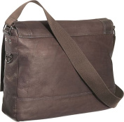 """Busi-Mess Essentials"" Columbian Leather Messenger Bag"