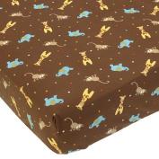 Too Good by Jenny McCarthy - Zoo Zoo 200 Thread Count Crib Sheet